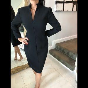 Akris -Skits split neck sheath dress size 10